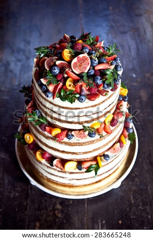 Wedding Carrot Cake With Fruits