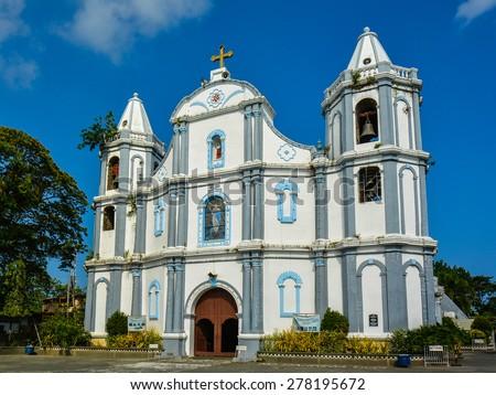 Namacpacan Church - Luna, La Union, Philippines - stock photo