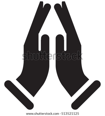 Icon Of There Is A Symbol For Namaste Clipart Library