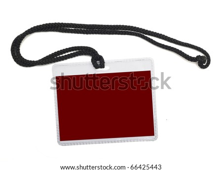 Name badge isolated on a white background - stock photo