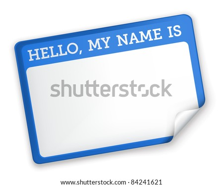 Name Tag, bitmap copy