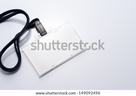 Name Tag on gray background
