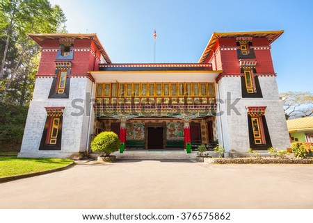 Namgyal Institute of Tibetology is a Tibet museum in Gangtok, Sikkim state in India - stock photo