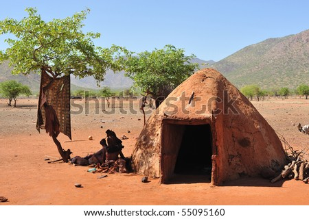 Namibia, Himba people - stock photo