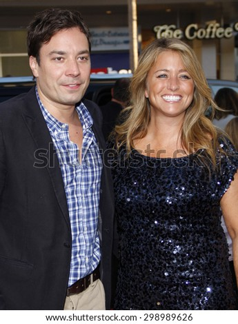 Nancy Juvonen and Jimmy Fallon at the Los Angeles premiere of 'Going The Distance' held at the Grauman's Chinese Theater in Hollywood on August 23, 2010.   - stock photo