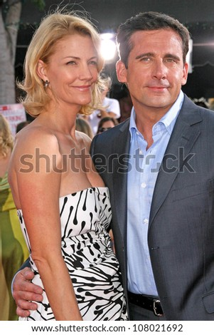"Nancy Walls and Steve Carell  at the World Premiere of ""Get Smart"". Mann Village Theatre, Westwood, CA. 06-16-08"