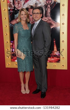 "Nancy Walls and Steve Carell at the World Premiere of ""The Incredible Burt Wonderstone"" Chinese Theater, Hollywood, CA 03-11-13"