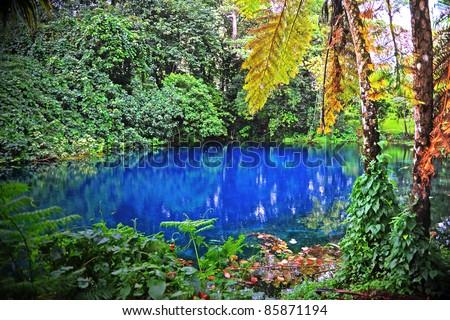 Nanda Blue Hole, Espiritu Santo, Vanuatu - stock photo