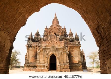 Nandamannya Temple at north of Minnanthu, Bagan, Myanmar - stock photo