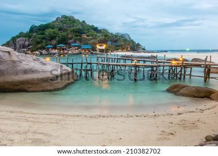 NangYuan and Tao island, thailand - stock photo