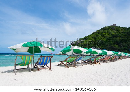 Nangyuan Island in thailand - stock photo