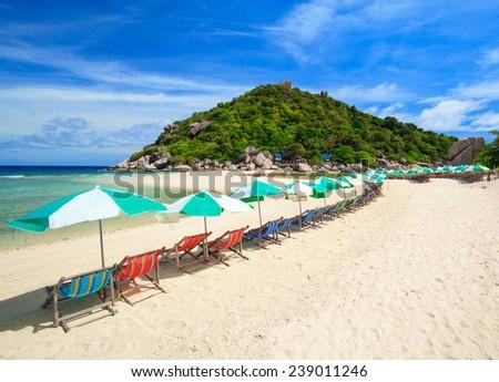 Nangyuan island, Suratthani, Southern of Thailand - stock photo