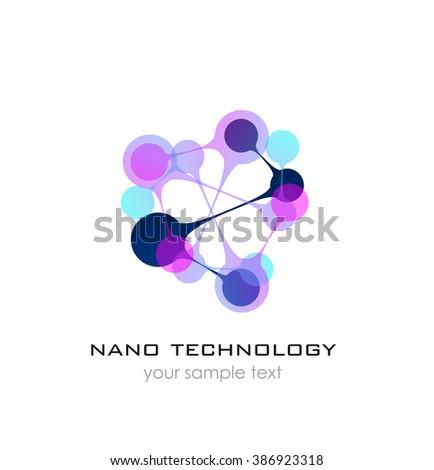 Nano Logo Nanotechnology Template Design Logo Stock Illustration ...