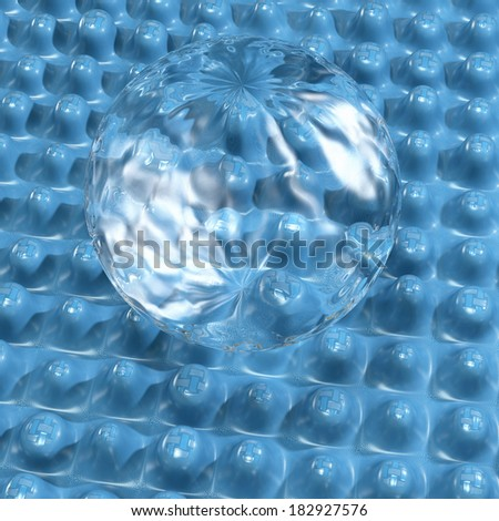 Nano sealing - 3d rendered illustration - stock photo