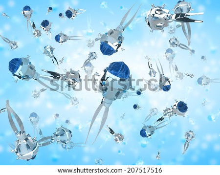 Nanobots - stock photo