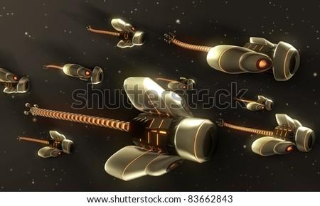 Nanobots - stock photo