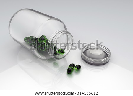 Nanobots inside pills - stock photo