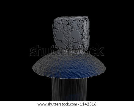 Nanotechnology - stock photo