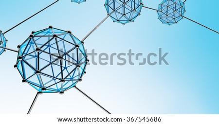 Nanotechnology Atom and Molecule - stock photo