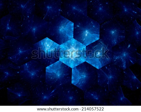 Nanotechnology in space industry, computer generated abstract background - stock photo