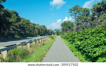 Nantucket landscape. - stock photo