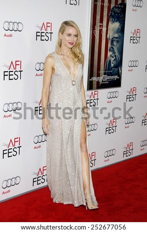 "Naomi Watts at the AFI Fest 2011 Opening Night Gala World Premiere Of ""J. Edgar"" held at Grauman's Chinese Theater in Hollywood, California, United States on November 3, 2011.  - stock photo"