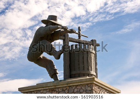 Napa Valley Wine Country Entrance Statue  - stock photo