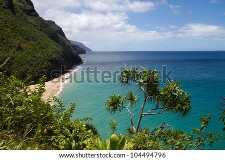 Napali Coast Kauai - stock photo