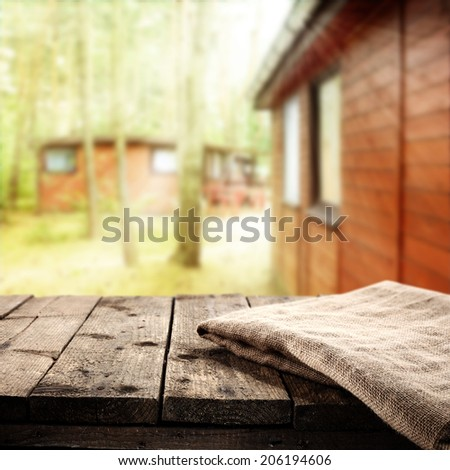napkin and table  - stock photo