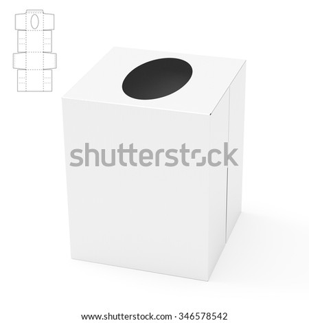 Napkin Box with Die Cut Template