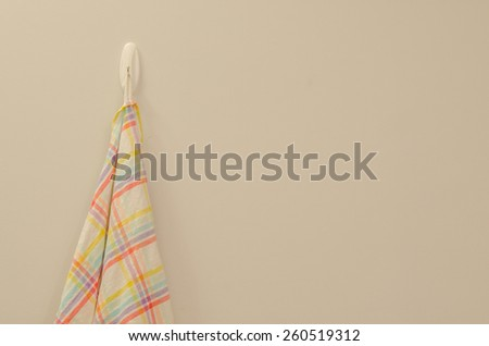 Napkin hang on wall - stock photo