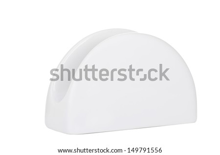 Napkin holder isolated on white - stock photo