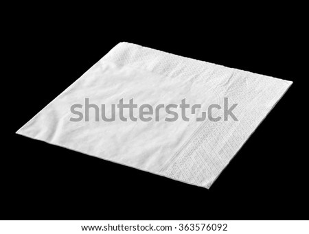 Napkin isolated on black