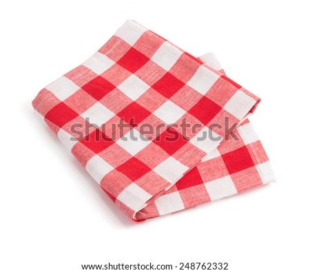 napkin isolated on white background - stock photo