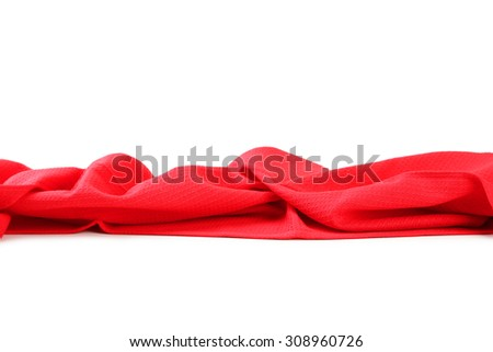 Napkin on the white background - stock photo