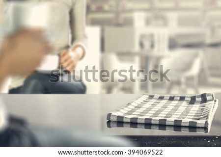 napkin place and glasses board and two woman