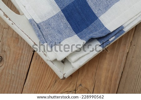 napkins on a tray