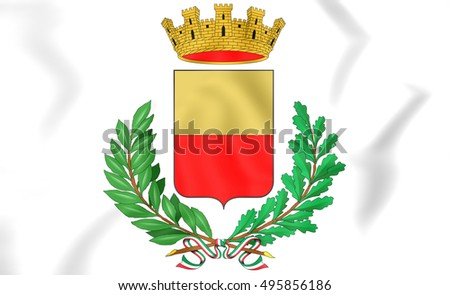 Naples Coat of Arms, Italy. 3D Illustration.