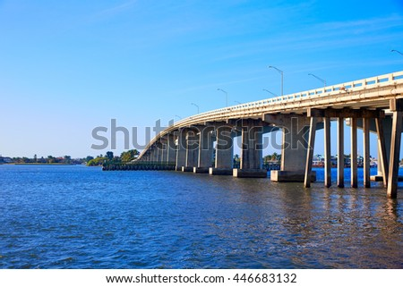 Naples Florida Marco Island bridge view in Florida USA