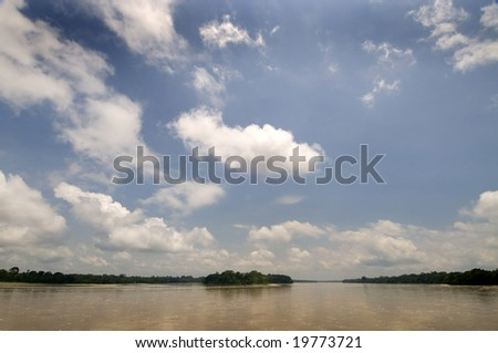 Napo River in Ecuador's amazon basin - stock photo