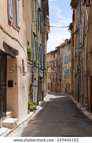 Narrow street in Provence, France
