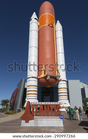 NASA  Kennedy Space Center CAPE CANAVERAL, FLORIDA November 1st, 2014.   Apollo Saturn V Center at Kennedy Space Center, Orlando, Florida. - stock photo