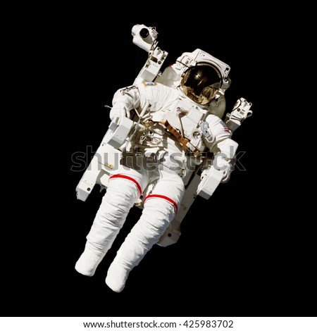 NASA Space Exploration Astronaut (Elements of this image furnished by NASA) - stock photo