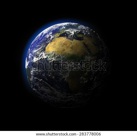 NASA view from space of the earth. - stock photo