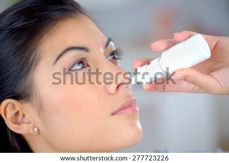 Nasal spray to help a cold