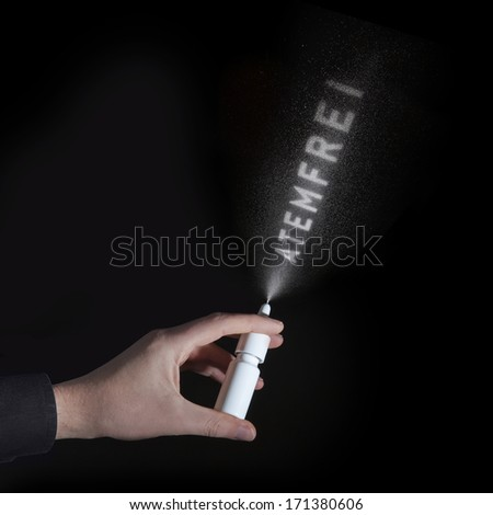 nasal spray with a word