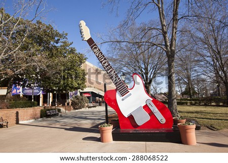 NASHVILLE, TENNESSEE-FEBRUARY 4, 2015:  The Grand Ole Opry is a landmark in Nashville, Tennessee that beckons country music fans from around the world. - stock photo