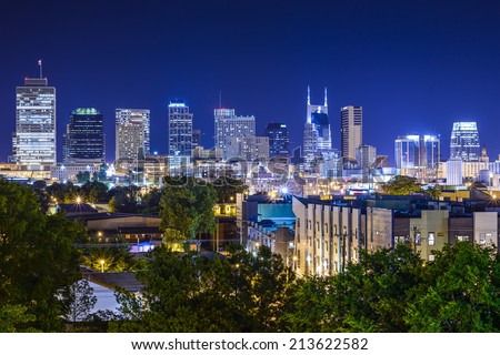 Nashville, Tennesssee, USA downtown skyline.