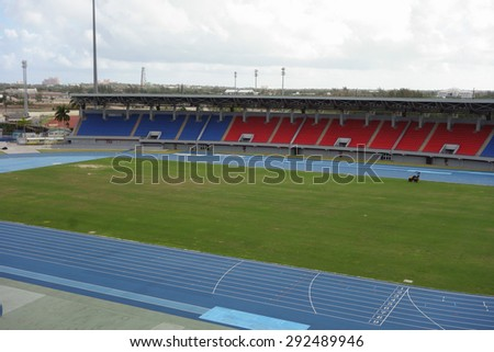 NASSAU, USA - MARCH 12, 2015: The Thomas A Robinson National Stadium