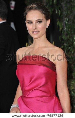 Natalie Portman at the 69th Golden Globe Awards at the Beverly Hilton Hotel. January 15, 2012  Beverly Hills, CA Picture: Paul Smith / Featureflash - stock photo